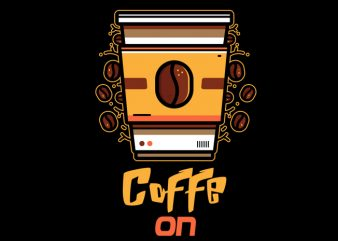 coffee on t-shirt design for sale