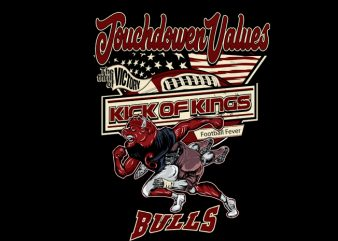 bulls football t shirt design to buy