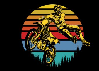 Motorcross t shirt design for download