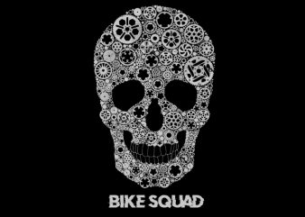 bike gear skull t-shirt design for commercial use