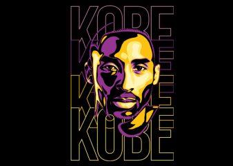kobe graphic t-shirt design