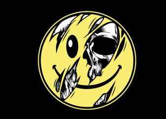 skull emoticon t shirt design to buy