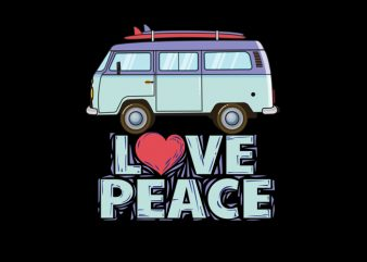 peace love commercial use t-shirt design