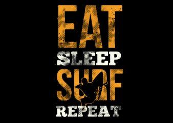 eat surf shirt design png