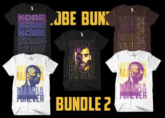 kobe bundle 2 t shirt vector art