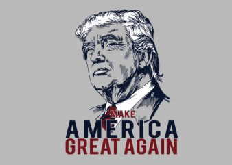 Make America Great Again Trump graphic t-shirt design