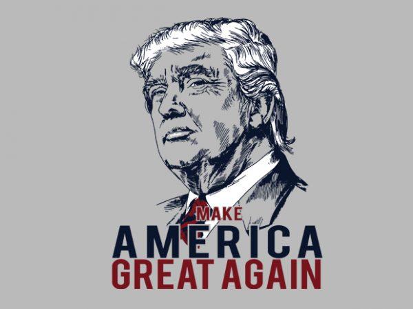 Make America Great Again Trump graphic t-shirt design