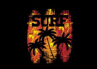 surf time print ready t shirt design