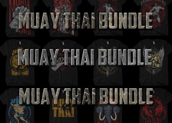 Muay Thai BUNDLE t shirt designs for sale