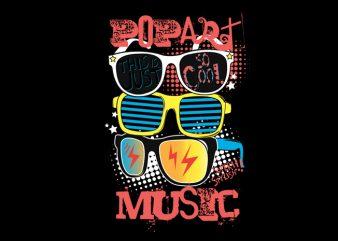 pop art music shirt design png