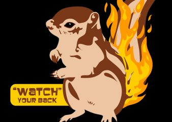 WATCH YOUR BACK t shirt design for purchase
