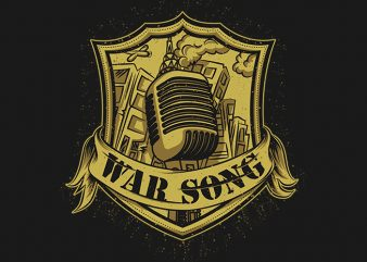 WAR Song buy t shirt design for commercial use