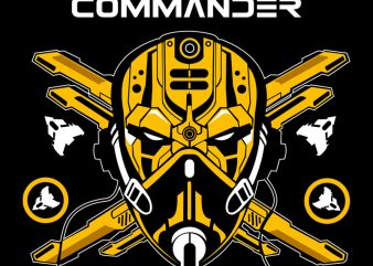 Wing Commander t shirt design template