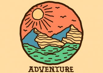 adventure tshirt design