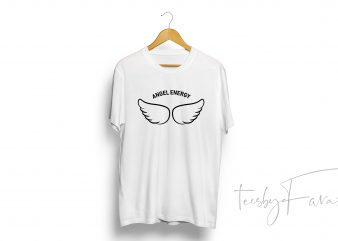 Angel Energy t shirt design for purchase