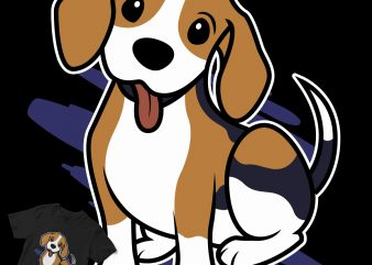 cute beagle puppy dog cartoon shirt design png
