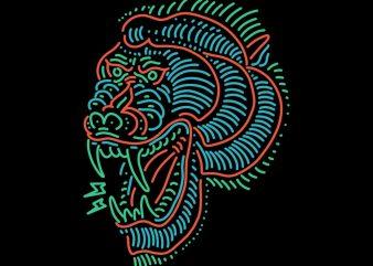 baboon tshirt design