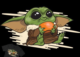 mmm yummy baby yoda the mandalorian buy t shirt design for commercial use