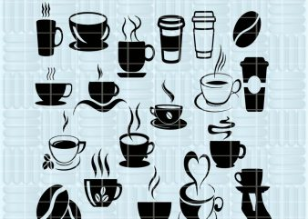 20 Design Coffee SVG cutting files for Cricut and Silhouette Cameo – Coffee png clipart – Coffee dxf vector files t shirt design to buy