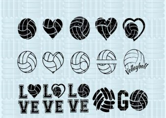 15 designs Svg, Png, Eps, Dxf files, Volleyball Bundle Svg, Volleyball Svg, Volleyball Silhouette, Volleyball Clipart, Ball Bundle Svg