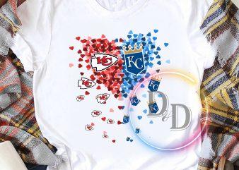 Heart Love KC Kansas City Chiefs t-shirt design png