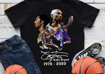 Kobe Bryant 1978 -2020 Legends Basketball T shirt design