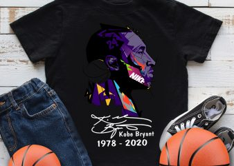 Kobe Bryant 1978 -2020 Mamba out 24 Basketball T shirt design