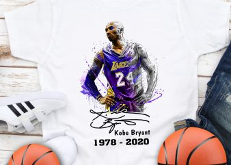 Kobe Bryant 1978 -2020 Mamba out 24 Basketball T shirt design
