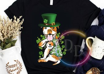 Patrick's day Pug dog tattoo I love mom mother's day t-shirt design png