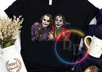 Joker Oscar Anniversary Joaquin Phoenix Heath Ledger graphic t-shirt design