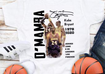 Kobe Bryant Mamba out 24 Basketball T shirt design