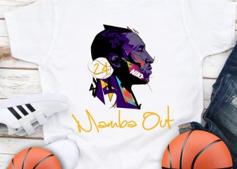Mamba out Kobe Bryant 1978 -2020 Legends Basketball T shirt design