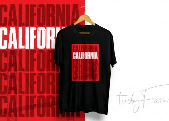 California Graphic T-shirt Design