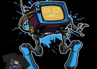 cyborg robotic cartoon design t shirt design to buy