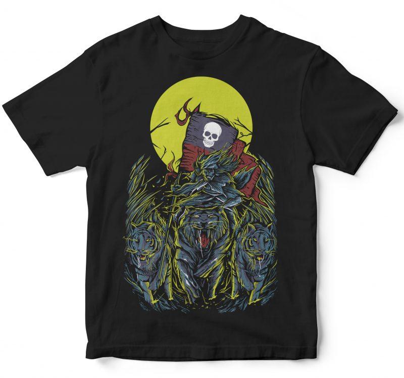tiger rider shirt design png