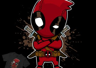 deadpool cartoon popculture commercial use t-shirt design