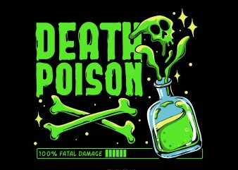 Death Poison t-shirt design png
