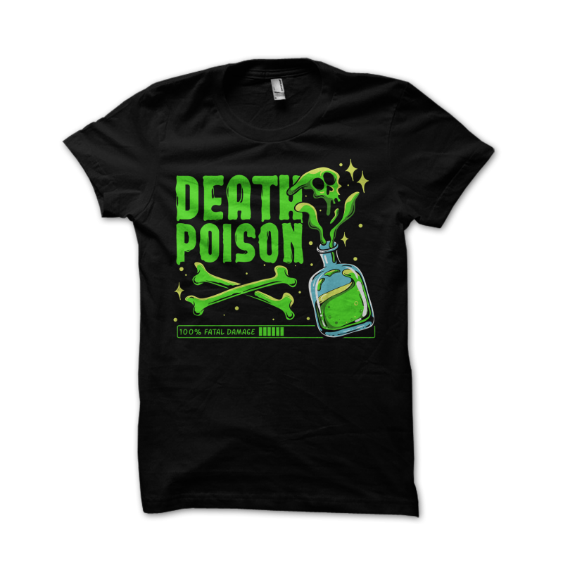 Death Poison t-shirt design png
