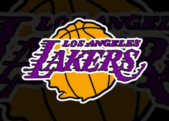 Lakers Logo Melting graphic t-shirt design