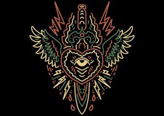 flying dagger tshirt design