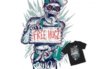 FREE HUG Zombie buy t shirt design