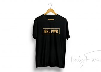 Girl Power Tshirt Design