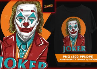 Joker Exclusive Artwork – tshirt design for sale