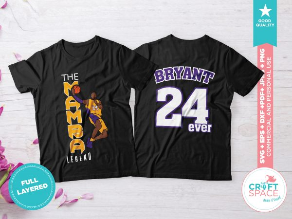 Kobe Bryant the Black Mamba,Full Layered SVG Cutting File DXF PDF Cut File for Cricut and Silhouette design for t shirt