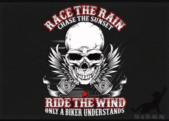 Biker Rain and Wind t shirt design to buy