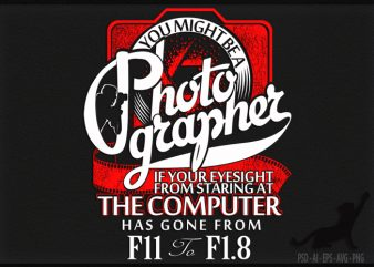 Photo Grapher t shirt design for purchase