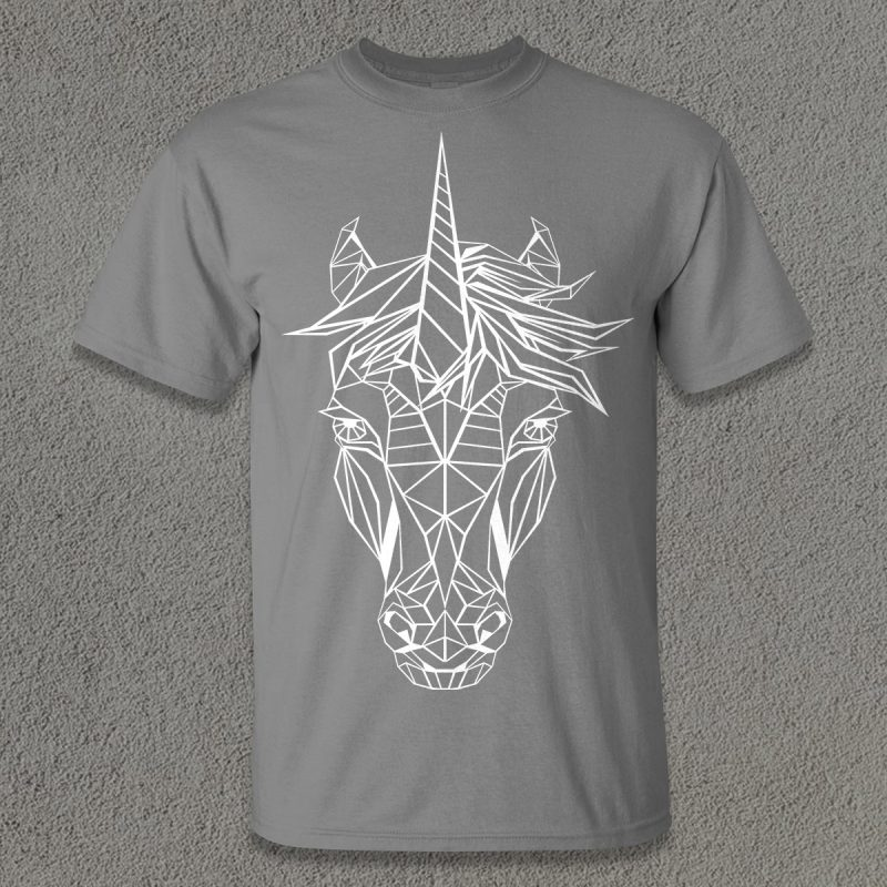 Unicorn Poly t shirt design for purchase