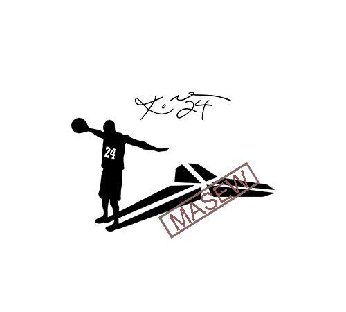 Kobe Bryant Svg Dxf Png Pdf Jpg Eps Files Los Angeles Lakers Vector Nba