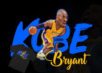 tribute to Kobe Bryant, The legends caricature t shirt design for download