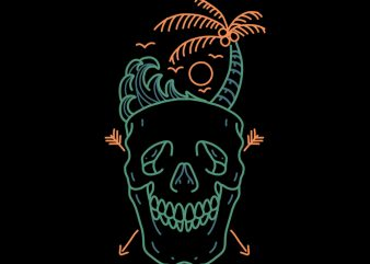 skull beach tshirt buy t shirt design for commercial use